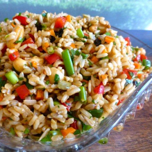 Ensalada de arroz y verduras